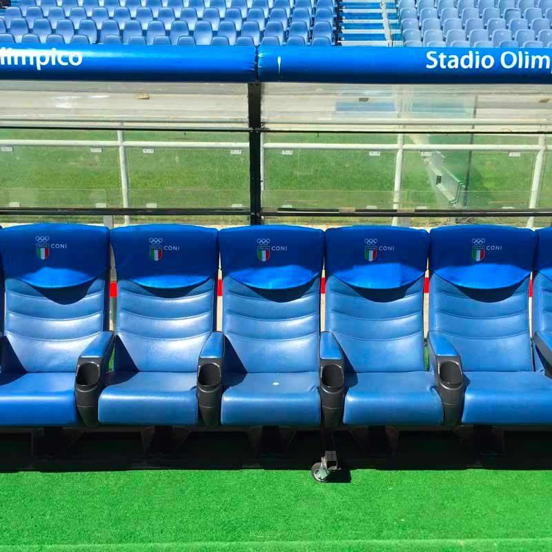 Panchine del Coni allo Stadio Olimpico di Roma